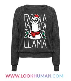 """Spread some Christmas cheer this holiday season with this holiday design featuring the text """"Falalala Llama"""" and a festive sing-a-long christmas llama. Perfect for holiday parties, christmas dinner, and holiday family gatherings!"""
