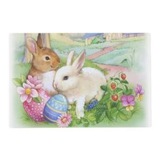 Easter rabbits placemat