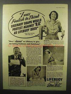 vintage detergent ads | 1938 Lifebuoy Soap Ad - I Was Foolish To Think