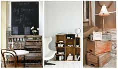 If you have old crates hidden somewhere in your basement take them into your home and make them useful. Vintage crates can look awesome in modern interior