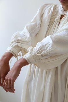 Ivory Silk, Clothing Labels, Fashion Details, Smocking, Indigo, Fashion Beauty, Blues, Drama, Model