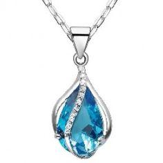 Embedded September Birthstone Swarovski Crystal Flower Bud Necklaces SOUFEEL Jewelry - Fit PANDORA/TROLLBEADS/CHAMILIA. #Jewelry #Fashion #Silver #handcraft #DIY  #Accessory #customjewelry lovebeadsworld.com