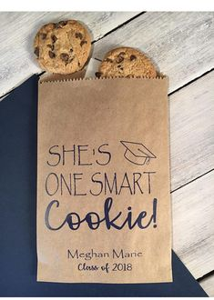 Smart Cookie Bags! Great for graduation cookie favors! Take a cookie to go! #party #graduation #graduationparty #partyplanning #partyideas #etsy #etsy