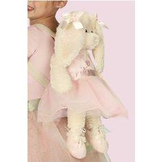 Plush Lil Ballerina Bunny Backpack by Bearington