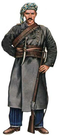 Oficer kurdyjskiej nieregularnej kawalerii armii tureckiej 1914 - 18.