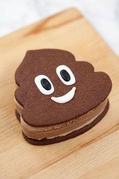 Poo Emoji Ice Cream Sandwich Recipe