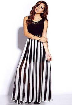 Striking Striped Maxi Dress | FOREVER 21 - 2000128031.      $27.80