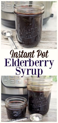 Try this easy recipe for Instant Pot Elderberry Syrup for a quick cold and flu r. - Instant pot recipes and ideas - Health Idea Instant Pot Pressure Cooker, Pressure Cooker Recipes, Pressure Cooking, Slow Cooker, Cooking Tips, Cooking Recipes, Healthy Recipes, Cooking Games, Healthy Cooking