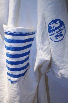 #Pitti #Immagine #Uomo #Firenze #summer2014 #collection #SS2015 #NorthSails #Stand #tshirt #pocket #stripes #logo #sailor