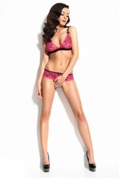Sexy kanten beha set in roze