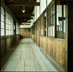 Old School Corridor - Photo by Minato Big And Beautiful, Beautiful World, Cctv Monitor, School Hall, Old Factory, Home Safety, Industrial Loft, Photography Camera, Corridor