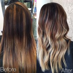 """This was literally one of those horror stories of a balayage that was done WRONG. I felt so bad for this lady! She went to a """"professional"""" & got a jacked up balayage. So I worked my magic and created a blended balayage one step closer to her dream hair  #wella #downtownbrentwood #behindthechair #modernsalon #olaplex #americansalon #btcpics #beautylaunchpad #maneinterest #HolyHairSalon @modernsalon @behindthechair_com"""