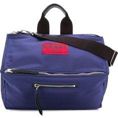 Givenchy Paris Pandora messenger bag (€1.440) ❤ liked on Polyvore featuring men's fashion, men's bags, men's messenger bags and blue