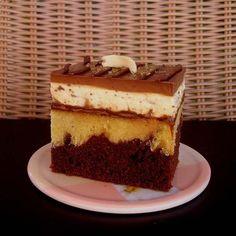 NapadyNavody.sk   Mramorový stracciatella zákusok Russian Recipes, Dessert Recipes, Desserts, Cheesecake, Cakes, Polish, Food, Easy Food Recipes, Tailgate Desserts