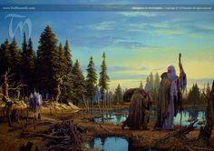 Saruman is Overtaken | Ted Nasmith - Tolkien Illustrator - Renderer - Musician