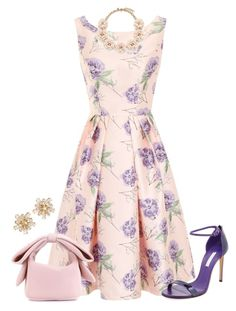 """""""dress"""" by kim-coffey-harlow ❤ liked on Polyvore featuring Chi Chi, Casadei, Simone Rocha and J.Crew"""