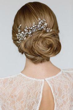 Bridal Hair Comb Pearl Hair Comb Wedding Hair by LavenderByJurgita