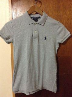 Ralph Lauren Sport Women's Gray Polo Shirt Size Small #RalphLauren #PoloShirt #Casual