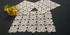 70s Handmade Crochet Lace Doilies Set of 3 Lace Doilies, Table Toppers, Cotton Thread, Vintage 70s, Crochet Lace, Shapes, Floral, Pattern, Handmade