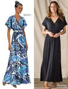 Sew the Look: A chic but comfy maxi for spring and summer. Butterick B6051 sewing pattern.