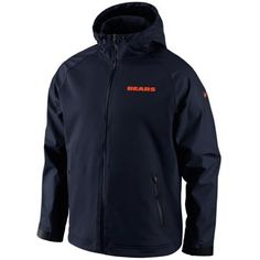 134f87a1 Nike Chicago Bears Vapor Ultimatum Full Zip Sideline Jacket - Navy Blue