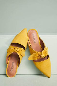 Jeffrey Campbell Charlin Bow Mules #anthrofave