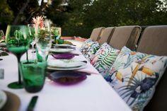 Tropical Birthday Dinner Party: think tukans, pink flamingos, banana leaves, tropical greeery...