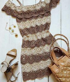 New Crochet Dress Tutorial Robes Ideas Crochet Skirts, Crochet Blouse, Crochet Clothes, Crochet Bikini, Knit Crochet, Pinterest Crochet, Mode Crochet, Dress Tutorials, Crochet Woman