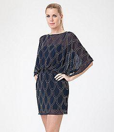 JS Collections Beaded Blouson Dress | Dillards.com