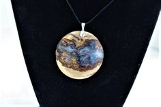 pine burl cloudy resin pendant by TheKnottyTurner on Etsy