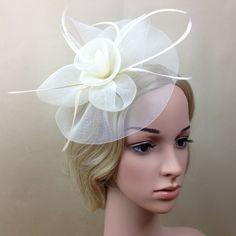 新しいエレガントなレディ女性魅惑的な帽子クリップヘアピン髪アクセサリー教会結婚式の髪飾りアクセサリー