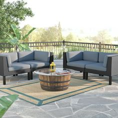 Breakwater Bay Zoar 4 Piece Deep Seating Group with Cushions