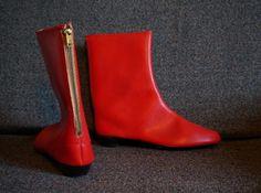 vintage 60's red gogo boots CrazeeGirl 's world !
