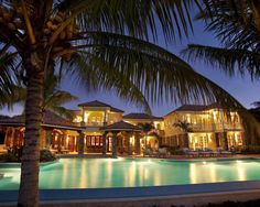 ... Pool And Beautiful Lighting With Coconut Tree Modern Beach Style House