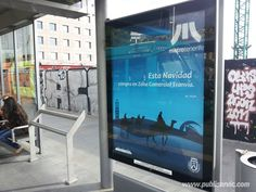 Mupis del Tranvía de Tenerife, ¿te interesa? Contacta con nosotros. #rotulacion #vehiculo #tranvia #publiservic #mupis #marquesina
