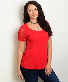 #PorEncargo: Blusa roja mangas #encaje