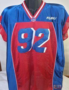 Vintage FUBU Collection Mens Size 2XL Sleeveless Hip Hop Rap Football Jersey  #FUBU #Jerseys