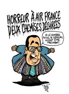 Péji - Caricature : François Hollande tombe la chemise