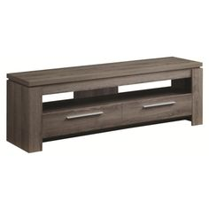 Coaster Entertainment Units Weathered TV Console - Coaster Fine Furniture