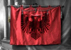 ALBANIAN HISTORICAL FLAG OF MALISORS HIGHLAND OF ALBANIA CREST OF ALBANIANS