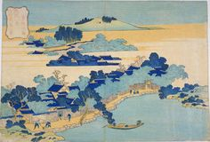 Katsushika Hokusai: Bamboo Fence at Kume Village — 粂村竹籬 - Japanese Art Open Database