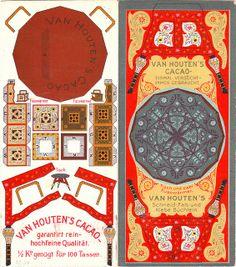 cacao van houten - tisch und zwei fusswarmer Mini Craft, Toy Craft, Diy Paper, Paper Crafts, Paper Doll House, Paper Furniture, Sleeping Beauty Castle, Paper Models, Book Nooks