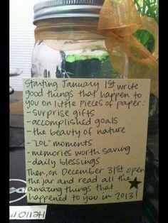 Good things jar!!!!!