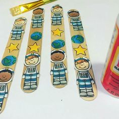 I love these space sticks made for her classroom. These sticks… Kindergarten Readiness, Kindergarten Classroom, Classroom Decor, Core Learning, Types Of Education, 1st Grade Writing, Reading Activities, Solar System, Drinking Tea
