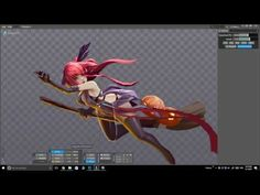 (4) girl halloween animation spine - YouTube Graphic Projects, Animation, Game Character, Girl Halloween, Artist, Darkness, Slot, Gifs, Face