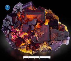Fluorite from Denton Mine, Cave-in-Rock, Illinois, USA (pièce de Mim Museum)