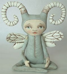 Sweet little fairy sculpture created by Jo and Dylan James.