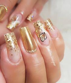 Gel Uv Nails, French Manicure Acrylic Nails, Simple Acrylic Nails, Best Acrylic Nails, Romantic Nails, Elegant Nails, Stylish Nails, Rhinestone Nails, Bling Nails
