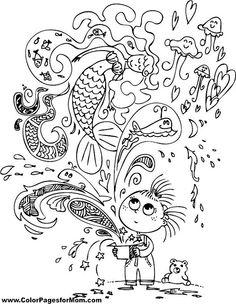Mermaid Coloring Page 11
