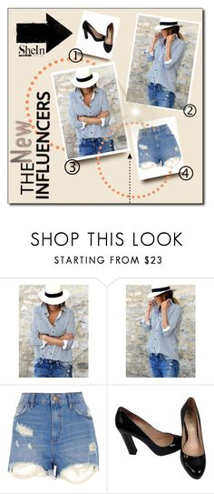 """""""BLUE BLOUSE"""" by elci-el ❤ liked on Polyvore featuring WithChic, River Island and Miu Miu"""
